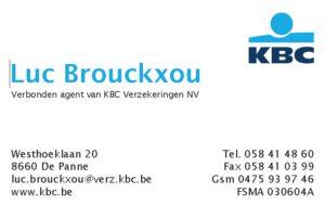Luc Brouckxou sponser logo KBC