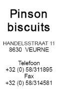 Pinson Biscuits Veurne